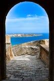 古老堡垒在西班牙 免版税库存照片