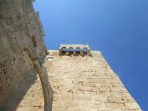 古老堡垒墙壁 库存照片