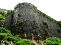 古老堡垒或城堡墙壁 图库摄影