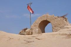 古老堡垒的废墟 库存图片