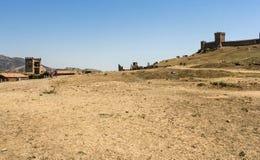 古老堡垒的设防 图库摄影