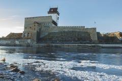 古老堡垒的长的埃尔曼塔 库存照片