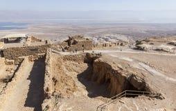 古老堡垒masada废墟 以色列 库存照片