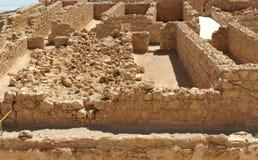 古老堡垒masada废墟 库存图片
