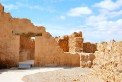 古老堡垒massada 库存图片