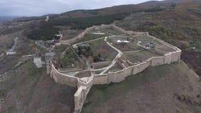 古老堡垒Narin卡拉空中概要在杰尔宾特俄罗斯 达吉斯坦共和国在高加索 股票录像