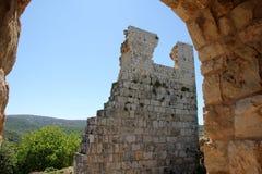 古老堡垒Yehiam 库存照片