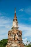 古老塔在阿尤特拉利夫雷斯,泰国 库存图片
