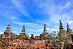 古老塔废墟在泰国 图库摄影