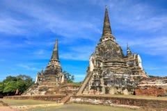 古老塔废墟在泰国 免版税库存图片