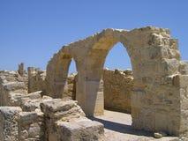古老塞浦路斯废墟 免版税库存照片