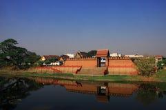 古老墙壁南奔市泰国 库存照片