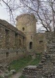 古老墙壁和防御塔 免版税图库摄影
