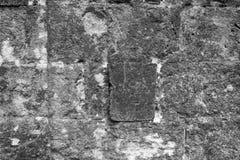 古老墙壁的纹理从一块石砖的 免版税库存图片