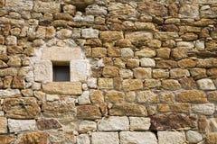 古老墙壁视窗 免版税库存照片