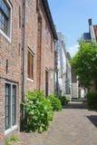 古老墙壁议院(Muurhuizen),阿莫斯福特, Hollan 免版税图库摄影