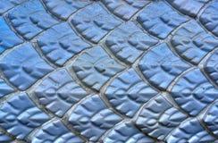 古老墙壁,蓝色给上釉的瓦屋顶,位于寺庙o 免版税图库摄影