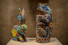 古老墨西哥人Skulptures 图库摄影