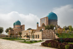 古老复杂Dorut Tilavat, Shakhrisabz,乌兹别克斯坦 库存照片