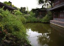 古老大厦瓷中国四川寺庙 库存图片