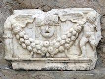 古老大理石带状装饰 图库摄影