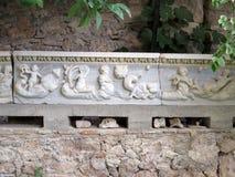 古老大理石带状装饰 库存照片