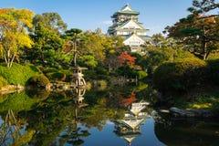 古老大阪城堡在日本 免版税库存图片