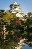 古老大阪城堡在日本 库存图片