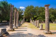 古老奥林匹亚,希腊废墟  库存图片