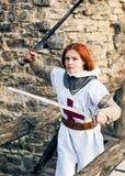 古老女性骑士 免版税库存图片