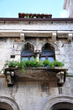 古老威尼斯式窗口 免版税库存图片