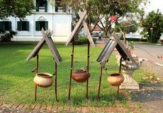 古老容器,做由罐,泰国样式 库存图片