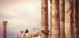 古老寺庙在希腊 库存图片