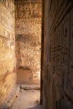 古老寺庙的,埃及神圣的安排 图库摄影