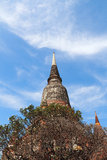 古老寺庙(Wat亚伊柴Mongkhol), Ayutthaya 免版税库存图片