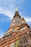 古老寺庙(Wat亚伊柴Mongkhol), Ayutthaya 图库摄影
