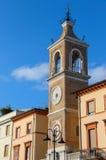 古老尖沙咀钟楼(Torre dell'Orologio)在里米尼,意大利 免版税库存照片