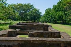 古老尼加拉瓜人废墟 库存图片