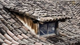 古老屋顶 免版税库存照片