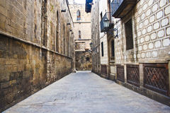 古老巴塞罗那季度 库存图片