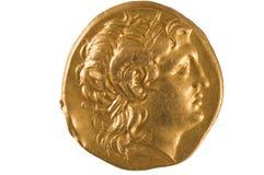 古老币金希腊 免版税库存照片