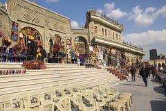 古老市场和城堡在阿尔贝拉,伊拉克 库存照片