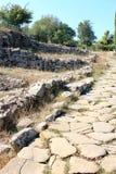古老市的挖掘Vetulonia,意大利 免版税库存照片