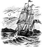 古老帆船 免版税库存照片