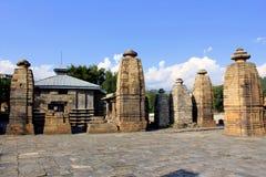 古老希瓦寺庙- Baijnath寺庙 免版税库存照片