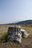 古老希腊残余 库存图片