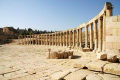 古老希腊罗马废墟在乔丹 免版税图库摄影