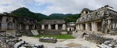 古老帕伦克玛雅人考古学站点 免版税库存照片