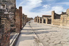 古老庞贝城罗马废墟 库存照片