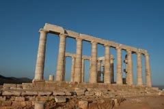 古老废墟。 Poseidon城堡。 库存图片